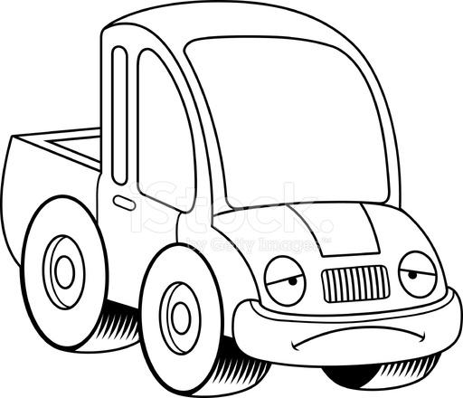 Dessin Animé Triste Camionnette Stock Vector Freeimages Com