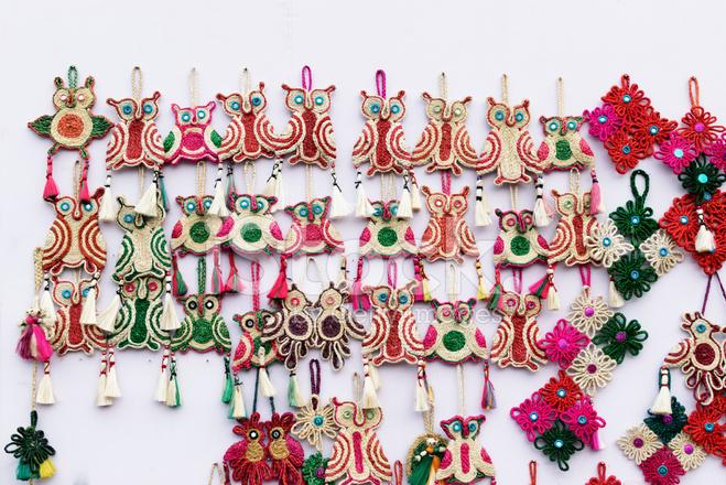 Handmade Jute Artwoks Indian Handicrafts Fair At Kolkata Stock