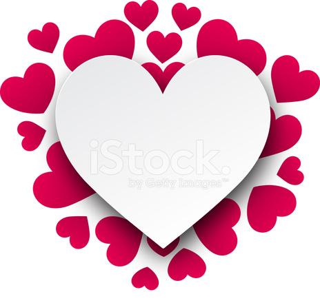 Fondo DE San Valentín Con Corazones DE Color Stock Vector ...