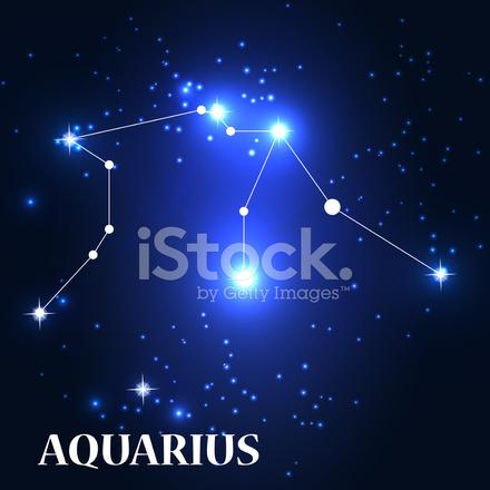 シンボル 水瓶座の星座ベクトル イラスト Stock Vector Freeimagescom