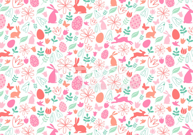 seamless easter pattern vector stock vector freeimages com