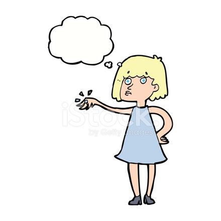 Mujer De Dibujos Animados Luciendo Un Anillo De Compromiso Con Globo