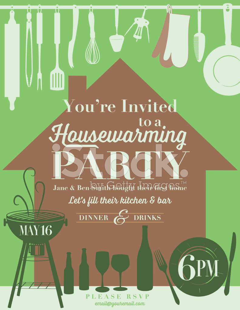 Housewarming party kitchen invitation stock vector freeimages housewarming party kitchen invitation stopboris Gallery