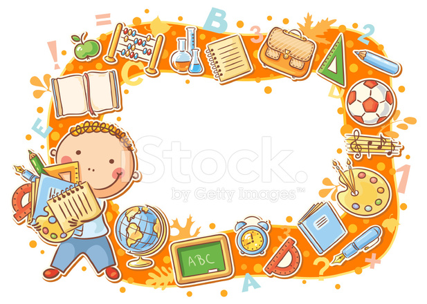 cartoon frame with school objects stock vector person thinking clipart person thinking clip art cartoon