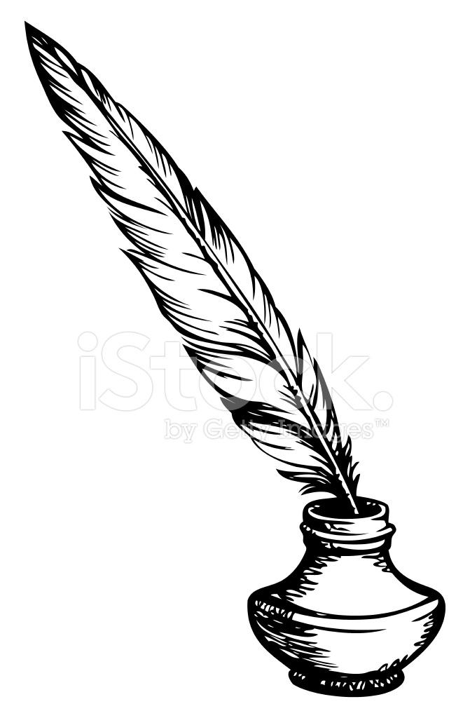 Penna e calamaio disegno
