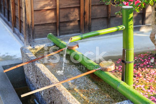 Bambus Brunnen Stockfotos Freeimages Com