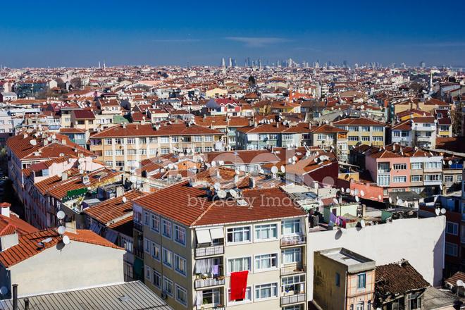 Istanbul şehir Manzaralı Türkiye Seyahat Arka Plan Mimari Stok