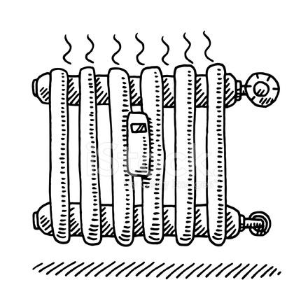 Heizkörper Heizung Zeichnung Stock Vector - FreeImages.com