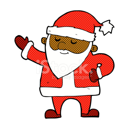 Comic Cartoon Weihnachtsmann Stock Vector Freeimages Com