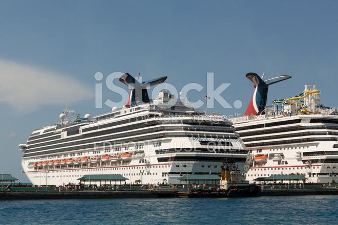 Carnival Splendor Cruise Ship Docked IN Nassau Bahamas Stock - Pictures of carnival splendor cruise ship