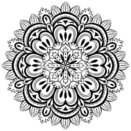 Vector, Mandala Abstracto Sobre Un Fondo Blanco Stock Vector ...