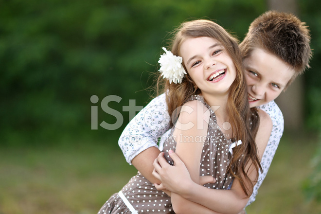 portrait of a boy girl in a summer stock photos freeimages com