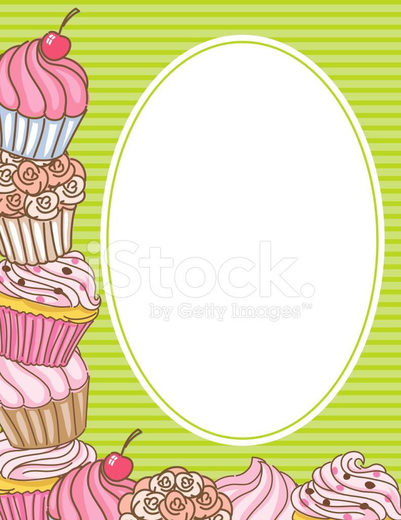 Cupcake Arrière Plan DE Bordure Invitation photos - FreeImages.com