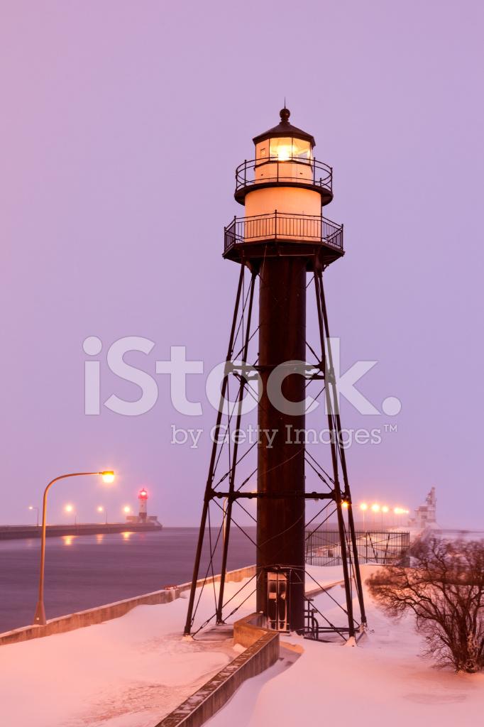 Duluth Harbor South Breakwater Inner Lighthouse During