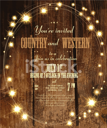 country and western invitation design template with oval string stock vector. Black Bedroom Furniture Sets. Home Design Ideas