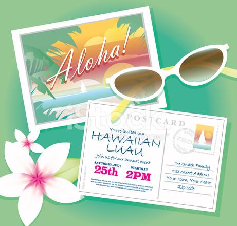 Modelo de design de convite postal luau havaiano com sunglasse stock modelo de design de convite postal luau havaiano com sunglasse stopboris Choice Image