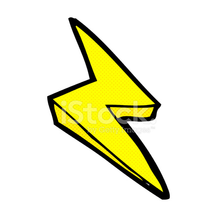 Comic cartoon lightning bolt symbol stock vector - Eclaire dessin ...