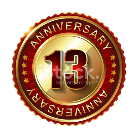 13 Years Anniversary Golden Stock Vector Freeimages