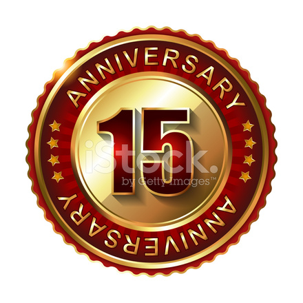 15 Years Anniversary Golden Stock Vector Freeimages