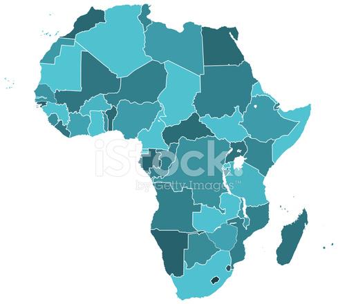 Mapa DE LA Silueta DE Africa fotografas de stock  FreeImagescom