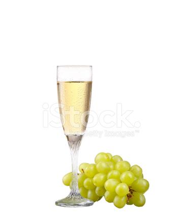 Bicchiere Di Pompelmo Rosso Vino Isolato Su Sfondo Bianco