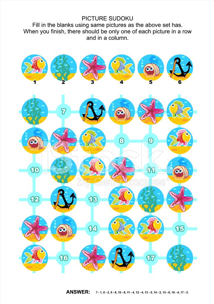 Bilderrätsel Sudoku, Unterwasser Themen Stock Vector - FreeImages.com