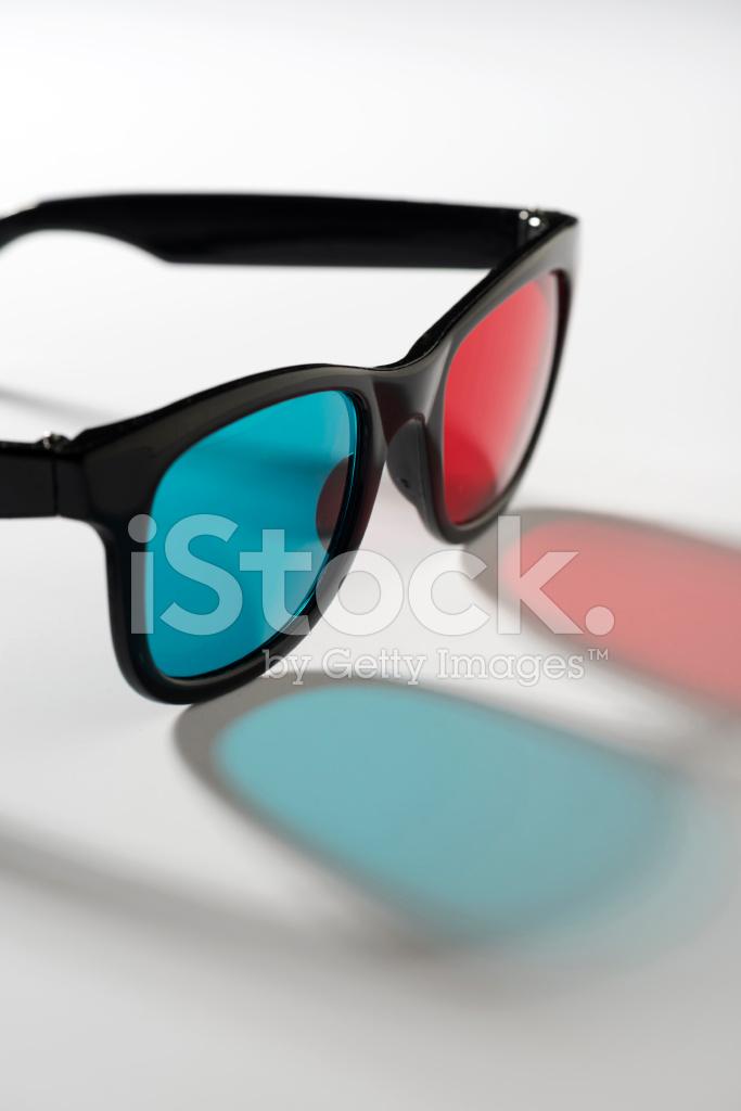 Retro Brille, 3d MIT Schwarzen Rahmen Auf Weißem Hintergrund ...