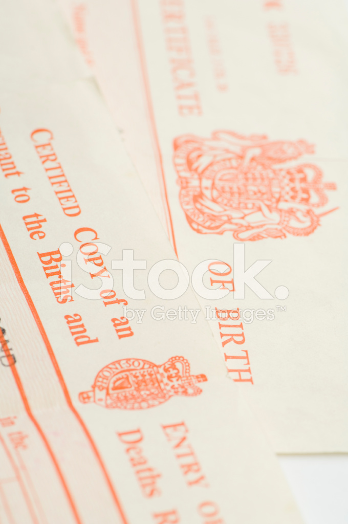 Uk Birth Certificates Stock Photos Freeimages