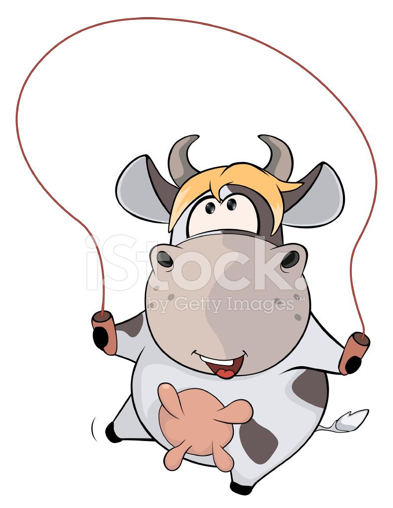small cow and jump cartoon stock photos freeimages com