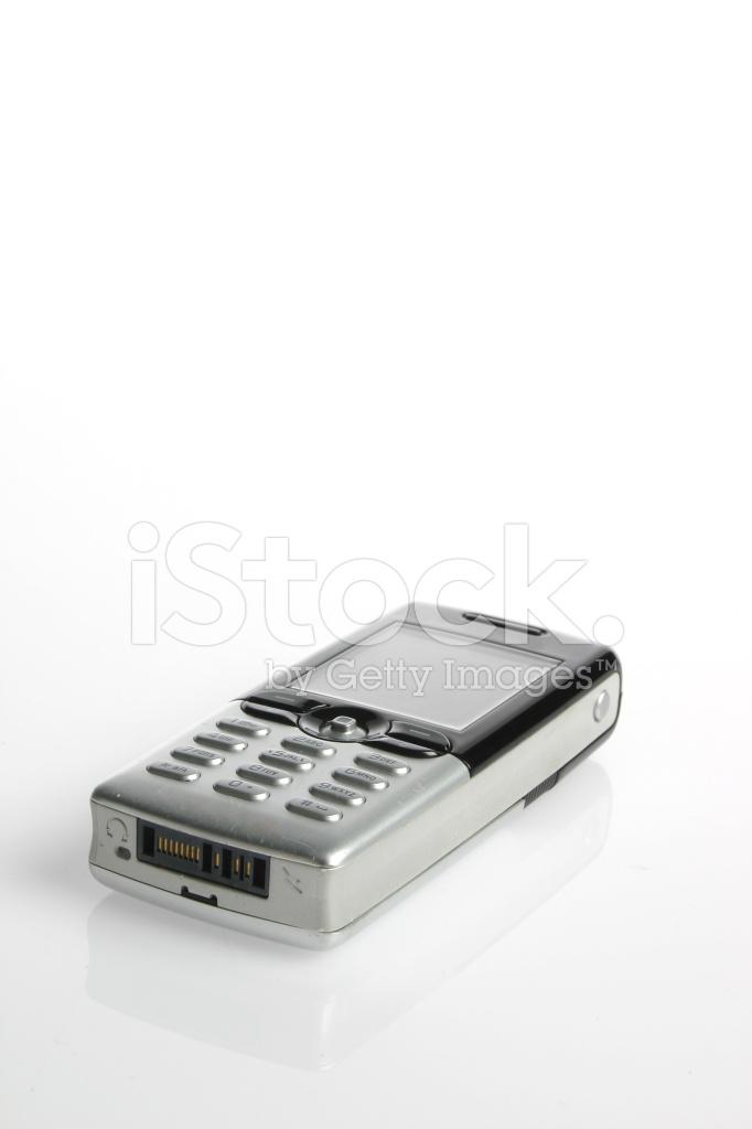 Cellulare Isolato Su Sfondo Bianco Fotografie Stock Freeimagescom