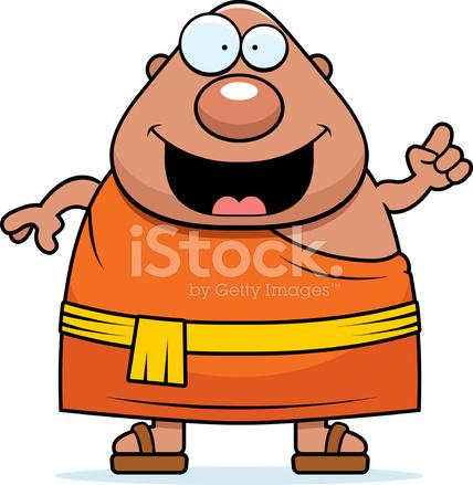 Ideia De Monge Budista Dos Desenhos Animados Stock Vector