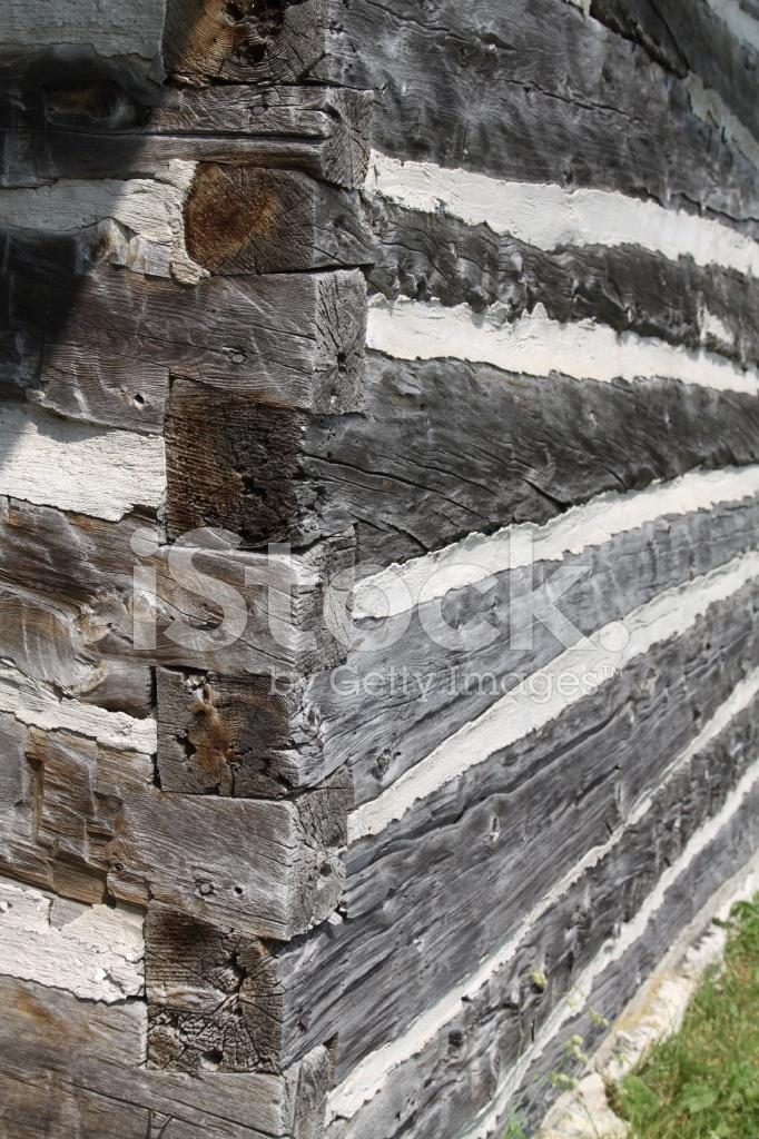 Close Up Of Log Cabin Construction Stock Photos