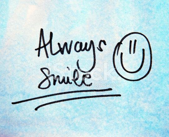 Always Smile Text Stock Photos Freeimages Com