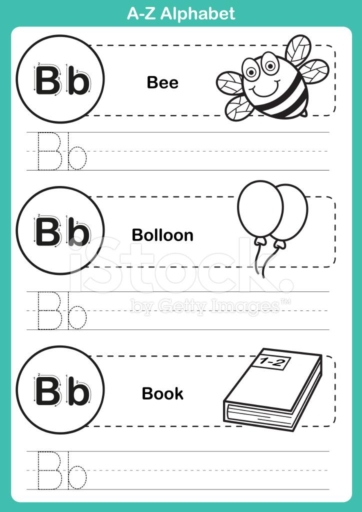 Ejercicio DE A Z Alfabeto Con Vocabulario DE Dibujos Animados Para ...