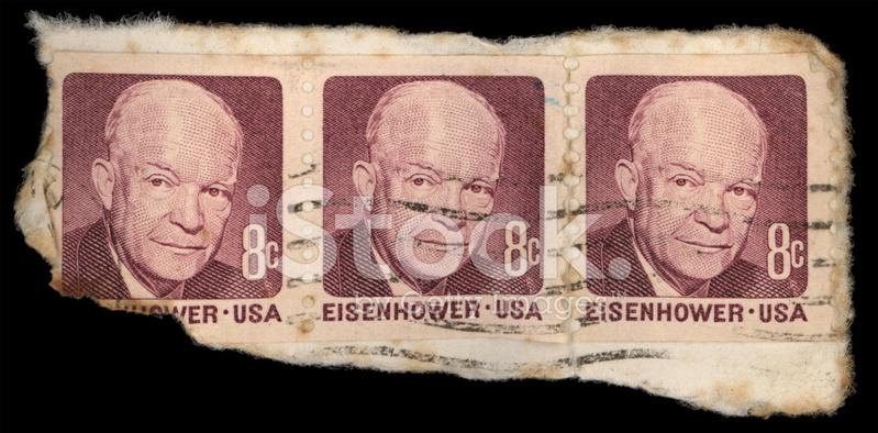 Eisenhower Stamps Stock Photos