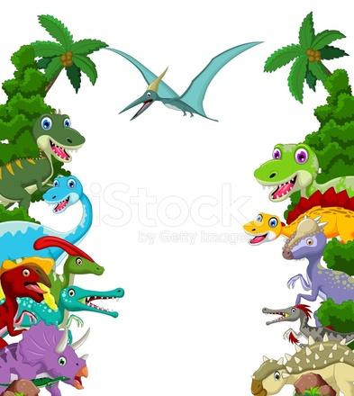 dinosaur cartoon with landscape background stock vector paint clip art no background paint clip art no background