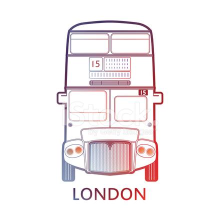 ロンドン バス 赤 のアイコン の記号のテンプレート ベクトル イラスト