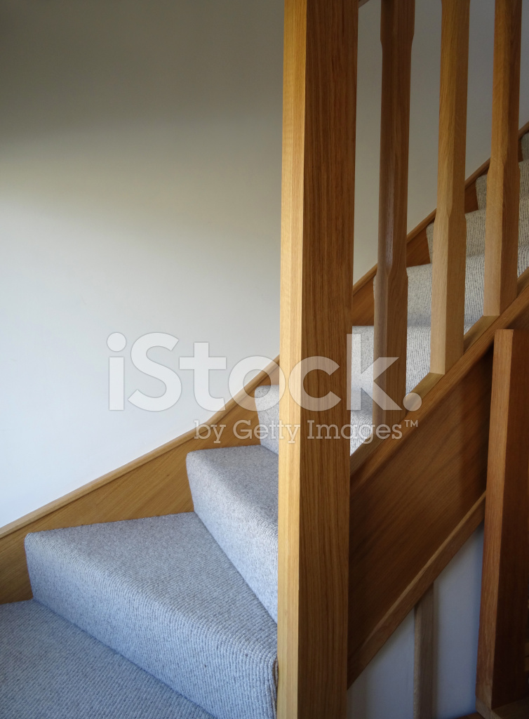Image Of Modern, Light Oak Stair Spindles / Wooden Staircase Cor