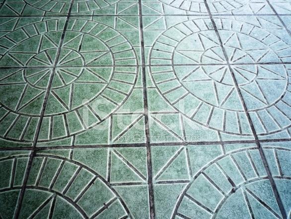 Tegels Met Patroon : Keramische vloer tegels patroon in ster en cirkel vorm stockfoto s