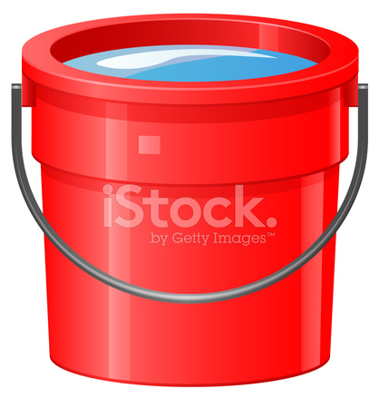 bucket or pail of water stock vector freeimages com