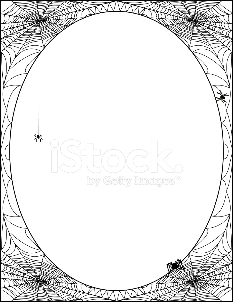 Spider Web Frame Stock Vector - FreeImages.com