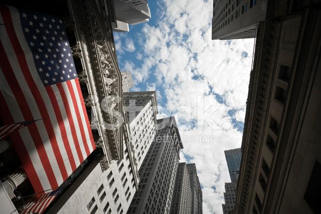 New York Menkul Kiymetler Borsasi Stok Fotograflari