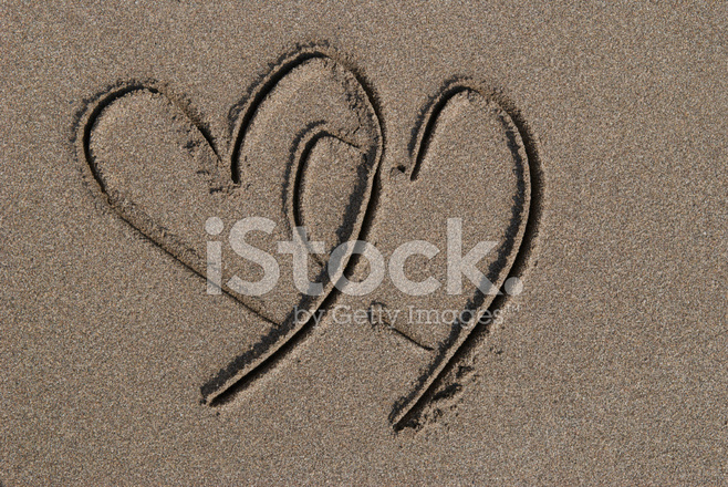 Two Hearts IN The Sand Stock Photos - FreeImages.com