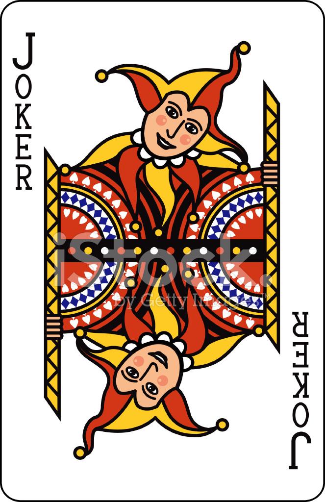Joker Kart Do Gry Stock Vector Freeimages Com
