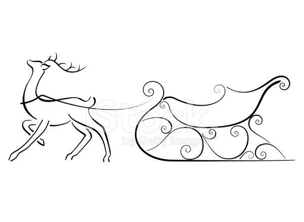 рисунки сани с оленями важно