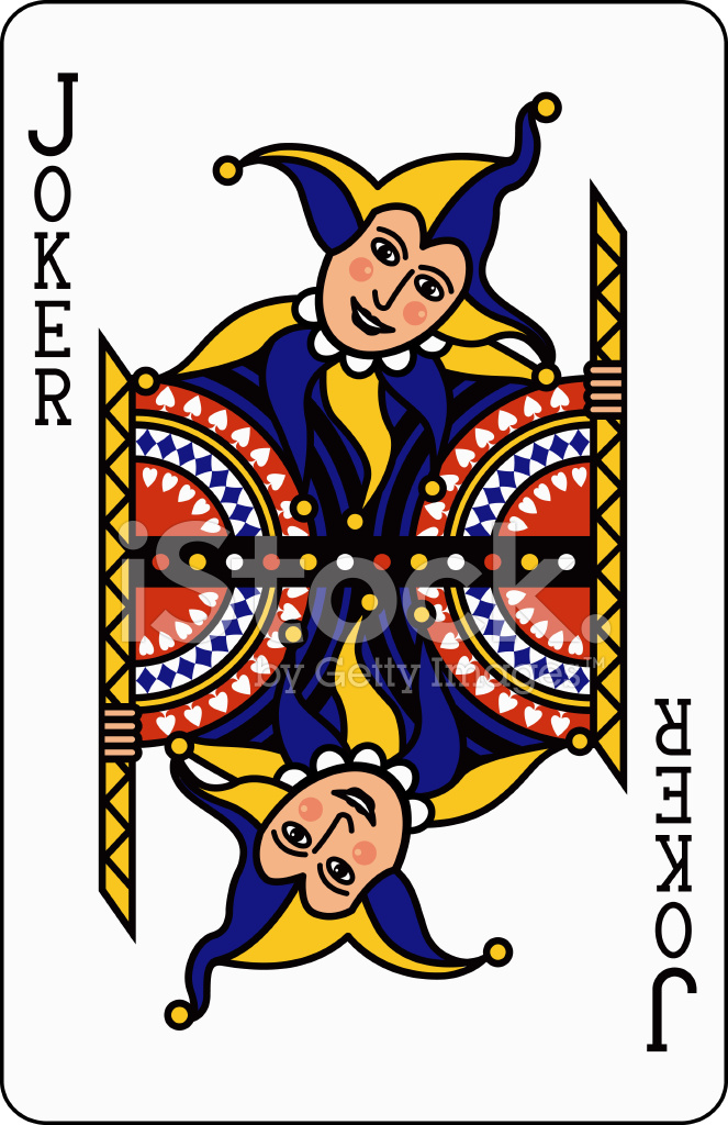 joker blue playing card stock vector freeimages com vector playing card back vector playing cards download