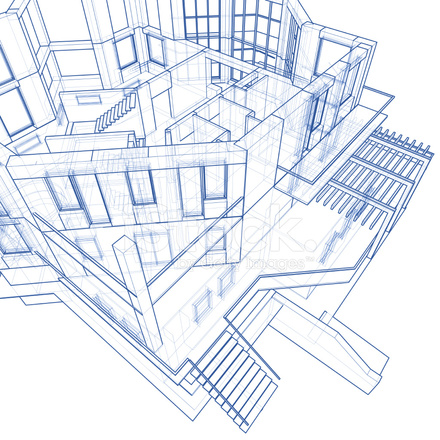 House blueprint 3d technical concept draw stock photos freeimages house blueprint 3d technical concept draw malvernweather Image collections