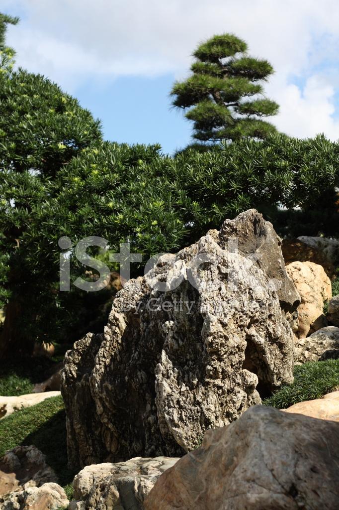 Asiatischen Steingarten