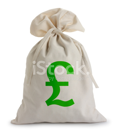 Pound Sterling Money Bag Stock Photos Freeimages