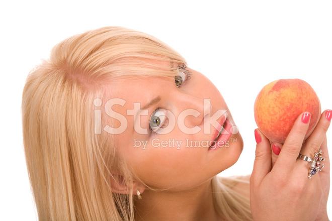 женщина персик фото
